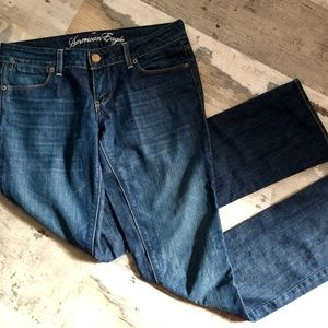 NWOT American eagle darkwash straight leg jeans